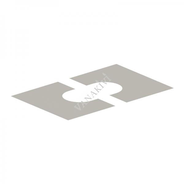 Korstna läbiviigu katteplaat Vilpra Ø215mm/41-45°